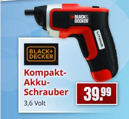 Black&Decker Kompakt-Akku-Schrauber