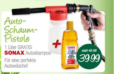 Schaum Pistole + SONAX Autoshampoo