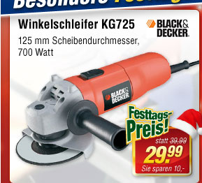Black&Decker Winkelschleifer KG725