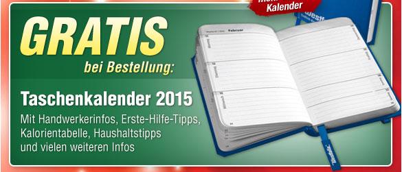 GRATIS bei Bestellung: Taschenkalender 2015