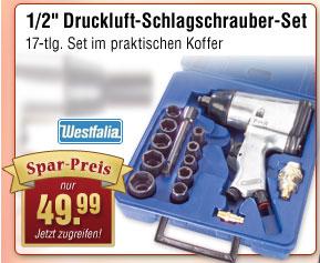 """Druckluftschrauber 1/2"""" - 17 tlg. Set"""