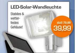 LED-Solar-Wandleuchte