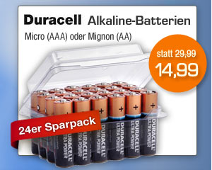 Alkaline Batterien - 24er Sparpacks