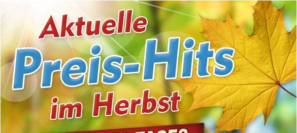 Aktuelle Preis-Hits im Herbst
