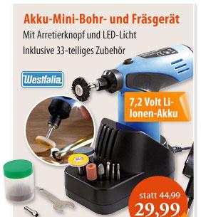 Akku-Mini-Bohr- und Fräsgerät