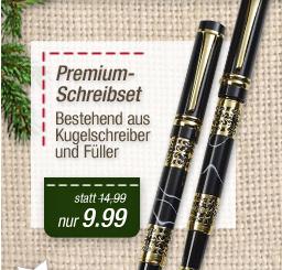 Premium Schreibset, goldline /schwarz, 3tlg.